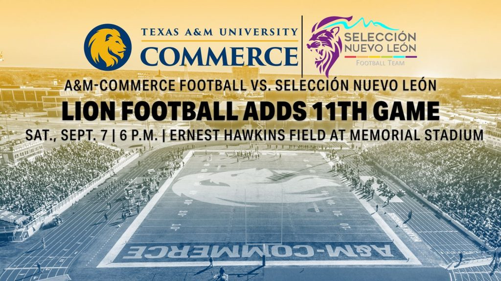 Texas A M University Commerce Football Adds 11th Game To 2019 Schedule Front Porch News Texas