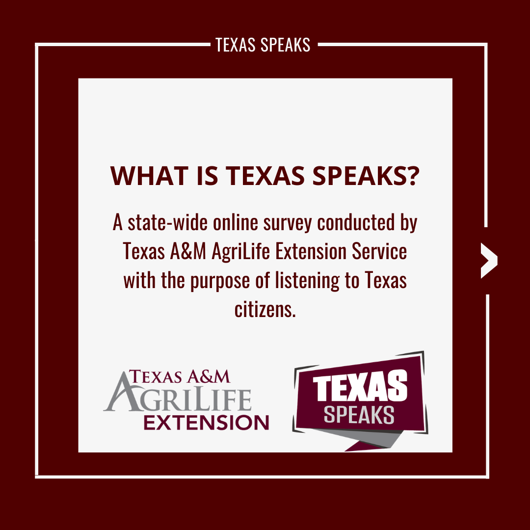 TexasSpeaks Allows Community to Provide Input by Dr. Mario ...